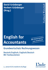 English for Accountants - Grundwortschatz Rechnungswesen - Deutsch/English, Englisch/Deutsch - Mit Textbausteinen